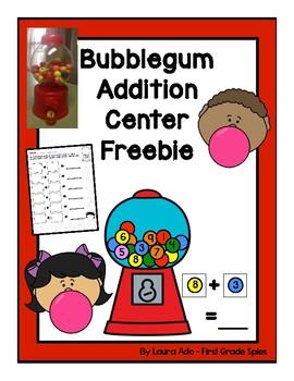 Bubblegum Math Center Freebie