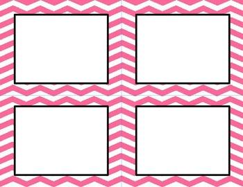 Bubblegum Pink Chevron Classroom Labels and Tags