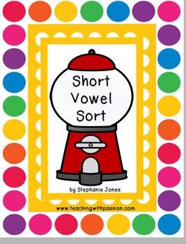 Bubblegum Short Vowel Sort Center