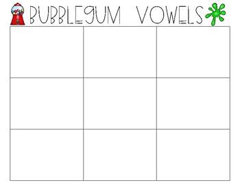 Short vowel learning center activity