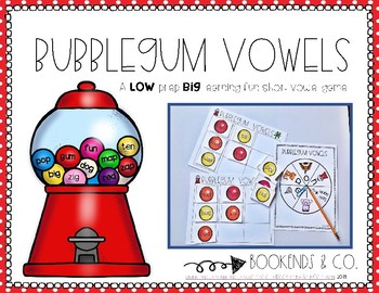 Bubblegum Vowels - Short Vowel/CVC Literacy Center Game