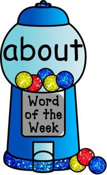 Bubblegum Words Third Grade Word Wall