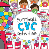 cvc Word Games - Gumball cvc Word Activities