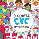 cvc Word Games - Gumball cvc Word Activities