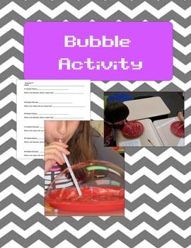 Bubbles Activity Data Sheet