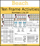 Bubbles & Beach Ten Frame Activities (1-20)  Bundle