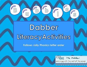 Bubbles Bingo Dabber Letter Activity
