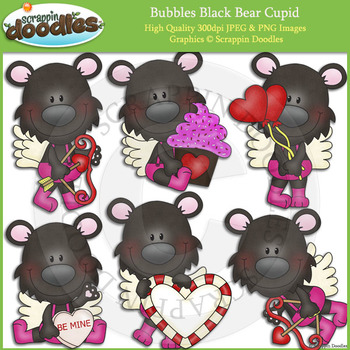 Bubbles Black Bear Cupid