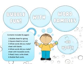 Bubbles, Bubbles, Bubbles All Around! 118 word family prac