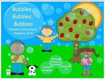 Bubbles, Bubbles, Bubbles: Compose and Decompose Numbers 11-19  (K.NBT.1)