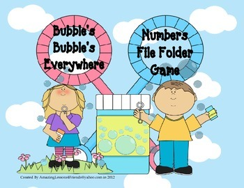 Bubbles, Bubbles Everwhere Numbers File Folder Game