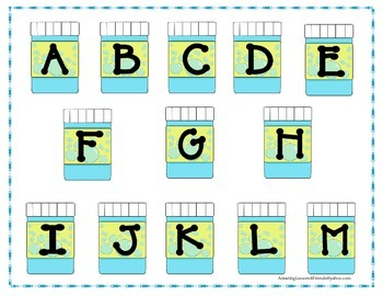 Bubbles, Bubbles Everywhere Letter File Folder Game