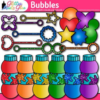 Bubble Clip Art {Wand, Shape, & Bottle Graphics for Summer