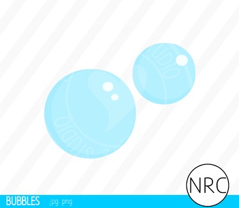 Bubbles clipart commercial use