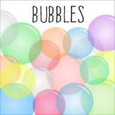Bubbles Clipart - 12 Colors - PNG images