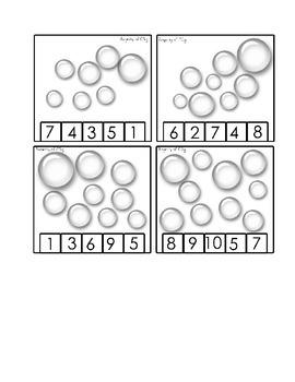Bubbles: Clothespin math activity