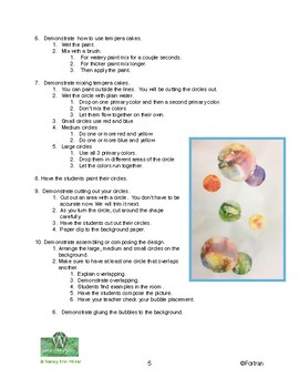 Bubbles: Color Mixing   Visual Arts Lesson for k to 2nd grade