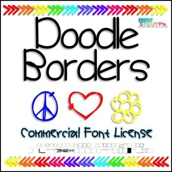 Bubbles Doodle Borders Font Commercial License