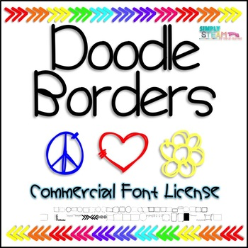 Bubbles Doodle Borders Font Commercial License