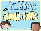 Bubbles & Duck Tails Visual Cues {Mini-Book}