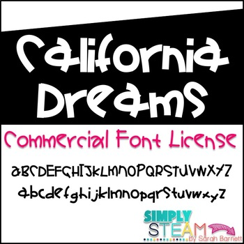 Bubbles Font California Dreams Commercial License