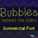 Bubbles Font License - Number the Stars