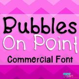 Bubbles Font License - On Point