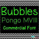 Bubbles Font License - Pongo MVIII