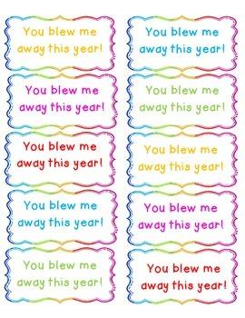 Bubbles Gift Labels