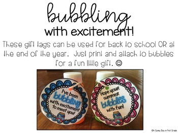 Bubbles Gift Tag Freebie! {B2S & EOY}