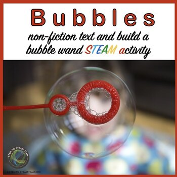 Bubbles  Reading and Make a Unique Bubble  STEM Challenge