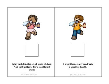 """Interactive Book in Rhyme - """"Bubbles"""""""