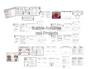 STEM--Bubbles STEAM Unit with Literacy and Math printables