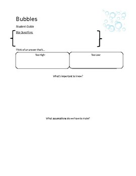 Bubbles: Task on volume and solving literal equations.