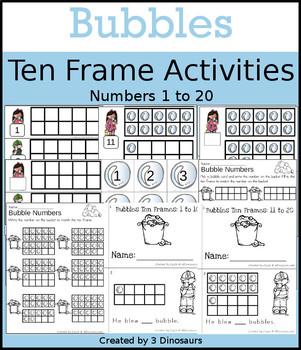 Bubbles Ten Frame Activities (1-20)