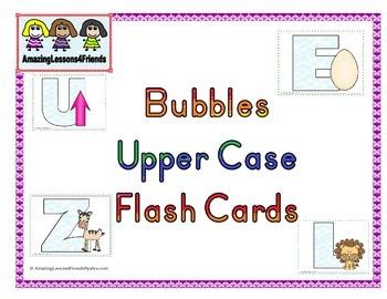 Bubbles Upper Case Flash Cards