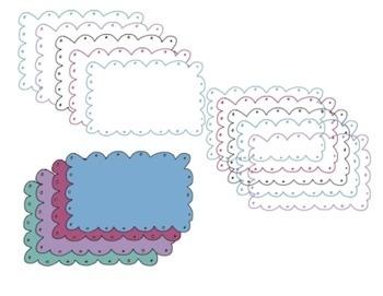 Bubbles and dots clip art borders/ graphics