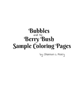 Bubbles and the Berry Bush Sample Coloring Pages