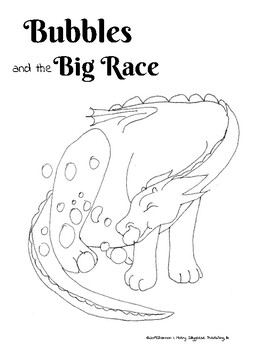 Bubbles and the Big Race Free Coloring Pages