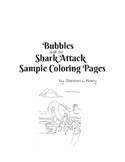 Bubbles and the Shark Attack Coloring Pages