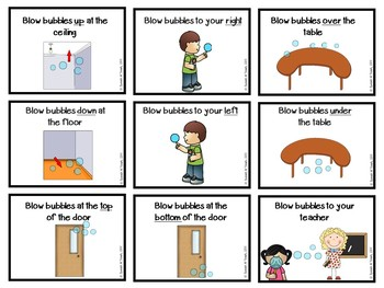 Bubbles for Basic Concepts: a following directions with basic concept activity