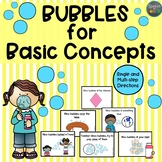 Bubbles for Basic Concepts: a following directions with ba