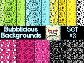 Bubblicious Backgrounds {Set #3}