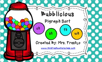 Bubblicious Digraph Sort Activity