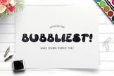 Bubbliest Font Handwriting Font Brush Font Handwritten Fon