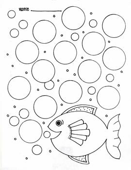 Bubblin' Fish printable