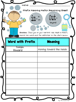 Bubbling Over with Prefixes in, out
