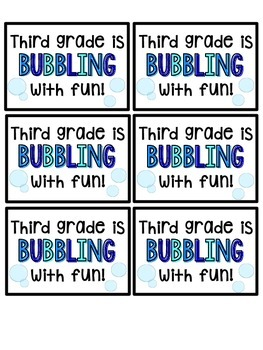 Bubbling into School Tags!