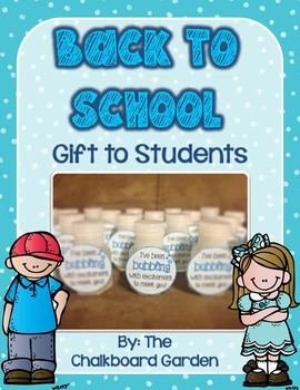 Bubbling to Meet You - Tags for Student Gifts