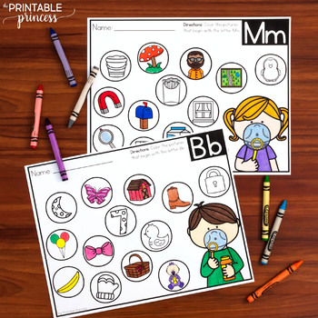 Bubbling with Beginning Sounds {NO Prep Beginning Sounds Practice Pages}